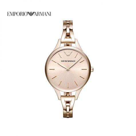 Đồng hồ nữ Emporio Armani Aurora dây thép- hồng