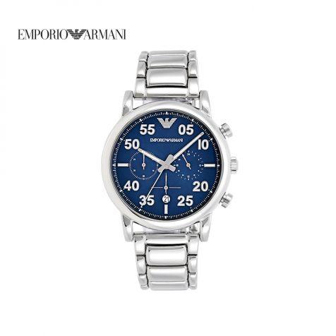 Đồng hồ nam Emporio Armani Luigi dây thép- bạc