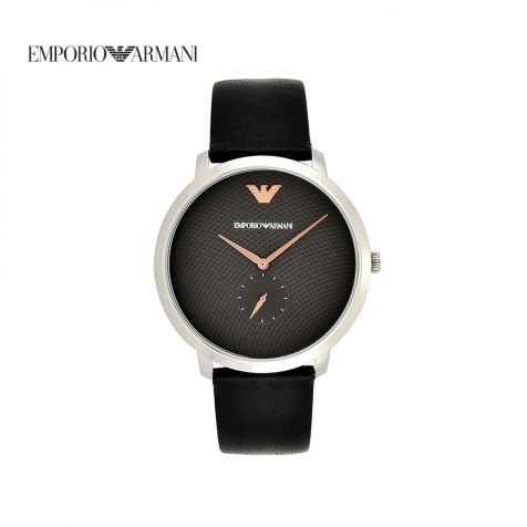 Đồng hồ nam Emporio Armani Modern Slim dây da- đen