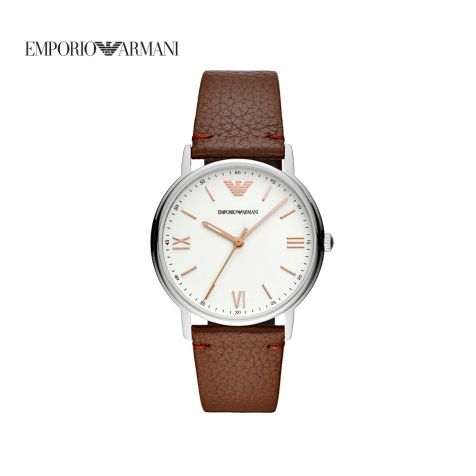 Đồng hồ nam Emporio Armani Kappa dây da - nâu