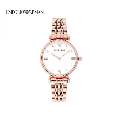 Đồng hồ nữ Emporio Armani Gianni T-bar- rose gold