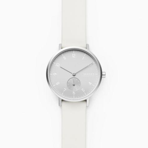 Đồng hồ nữ Skagen Aaren thép không gỉ - trắng