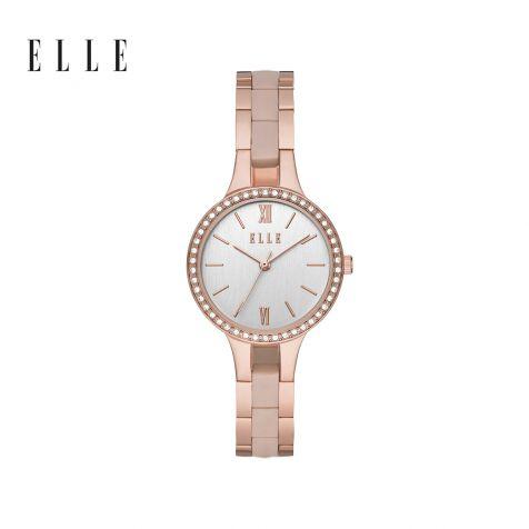Đồng hồ nữ Elle Alesia thép không gỉ - vàng hồng