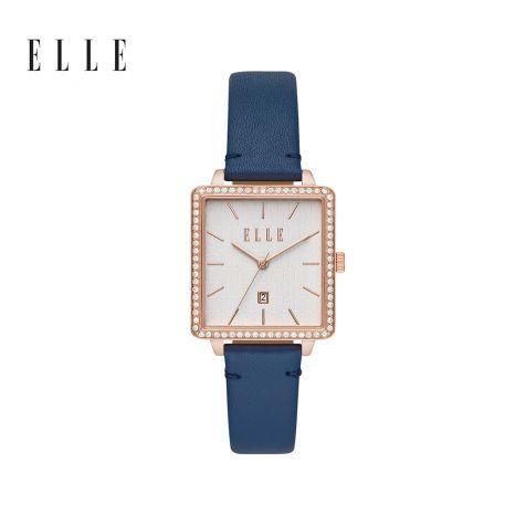 Đồng hồ nữ Elle Ile de la cité dây da - xanh dương