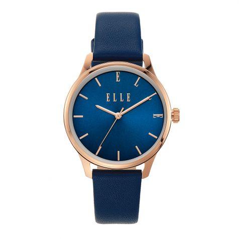 Đồng hồ nữ Elle Moceau dây da - xanh dương
