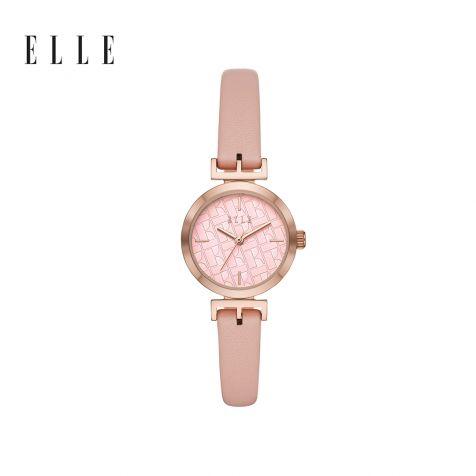 Đồng hồ thời trang nữ Elle Odeon dây da - hồng