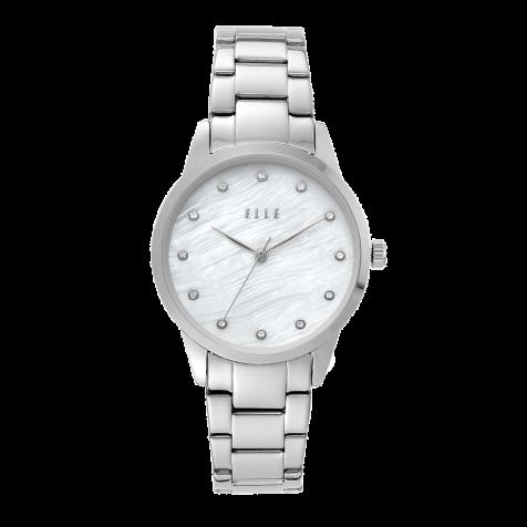 Đồng hồ nữ Elle Molitor Three-Hand thép - bạc