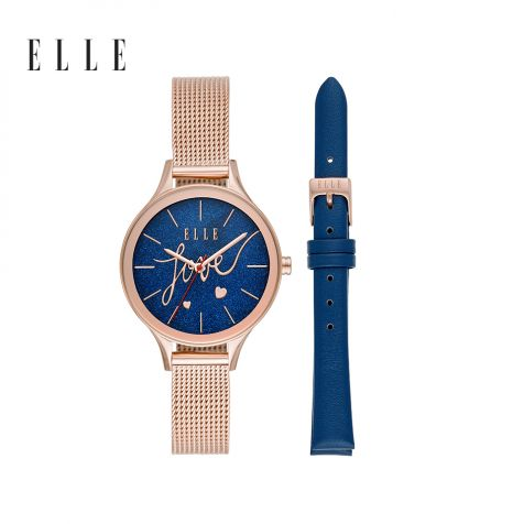 Đồng hồ nữ Elle Ternes thép không gỉ - rose gold