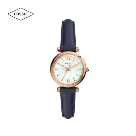 Đồng hồ nữ Fossil Carlie Mini ES4502 dây da - xanh