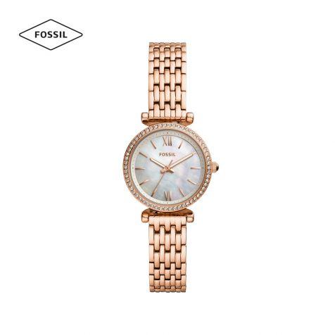 Đồng hồ nữ Fossil Carlie mini dây thép rose gold