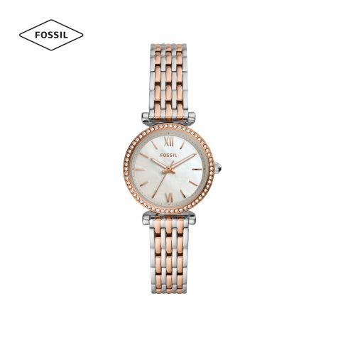 Đồng hồ nữ Fossil Carlie mini dây thép không gỉ