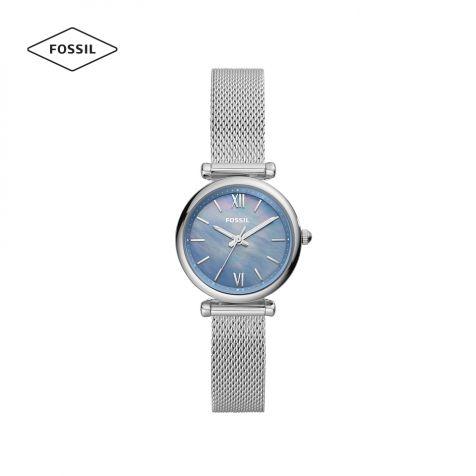 Đồng hồ nữ Fossil Carlie Mini dây thép - bạc