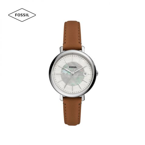 Đồng hồ nữ Fossil Jacqueline Solar dây da - nâu