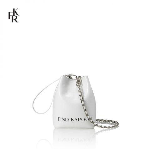 Túi nữ Find Kapoor Mini Pingo Lettering - trắng