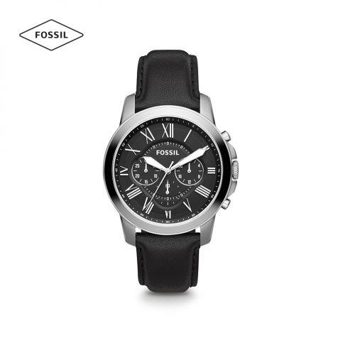 Đồng hồ nam Fossil Grant FS4812IE dây da -   đen