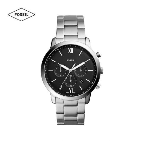 Đồng hồ nam Fossil Neutra chrono dây thép - bạc