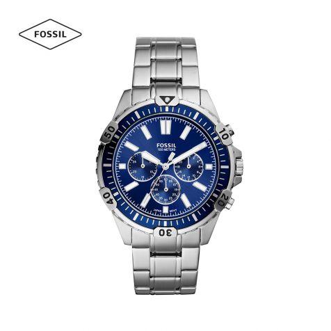 Đồng hồ nam Fossil Garrett dây thép không gỉ - bạc