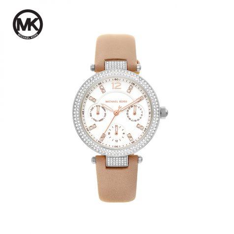 Đồng hồ nữ Michael Kors Parker dây da -   nâu
