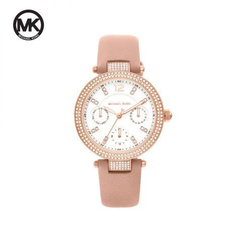 Đồng hồ nữ Michael Kors Parker dây da -   hồng