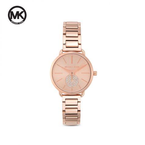 Đồng hồ nữ Michael Kors Portia dây thép- rose gold