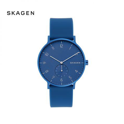 Đồng hồ nam Skagen Aaren thép không gỉ- xanh dương