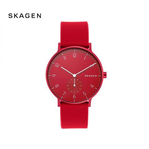 Đồng hồ nam Skagen Aaren thép không gỉ - đỏ
